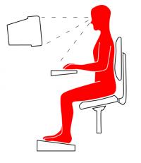 Pravilno sedenje na pisarniškem stolu