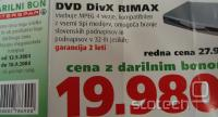 Rimax DVD DivX predvajalnik