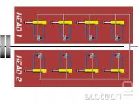shema vezave zračnih cevk V8 motorja