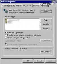 Začnite s Start > Settings > Control Panels > Internet Control (Start > Nastavitve > Nadzorna plošča > Internetne možnosti)