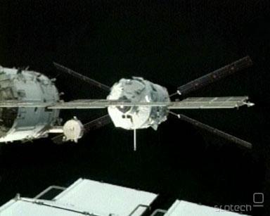 Samodejno vesoljsko plovilo se je uspešno združilo z modulom Zvezda