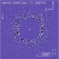 Posnetek dveh planetov iz observatorija Gemini