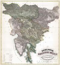 Zemjovid Slovenske dežele in pokrajin