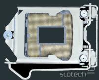LGA-1156 z zatemnjenimi deli matične plošče