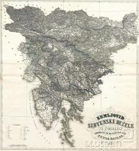 Zemljevid Slovenske dežele in pokrajin