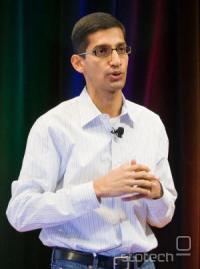 Sundar Pichai, podpredsednik razvoja produktov med najavo Chrome OS