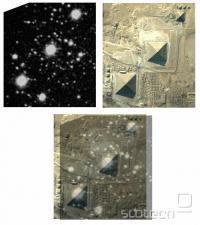 Zvezde v Orionovem pasu ter piramide v Gizi