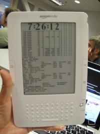 Kindle 2 z grafičnim vmesnikom Linuxa Ubuntu