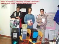 """Srečni zmagovalci v kategoriji """"Najlepši računalnik"""". Od leve proti desni TESKAn, alien-w, Jebiveter"""