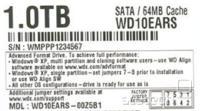 primer oznake novega diska