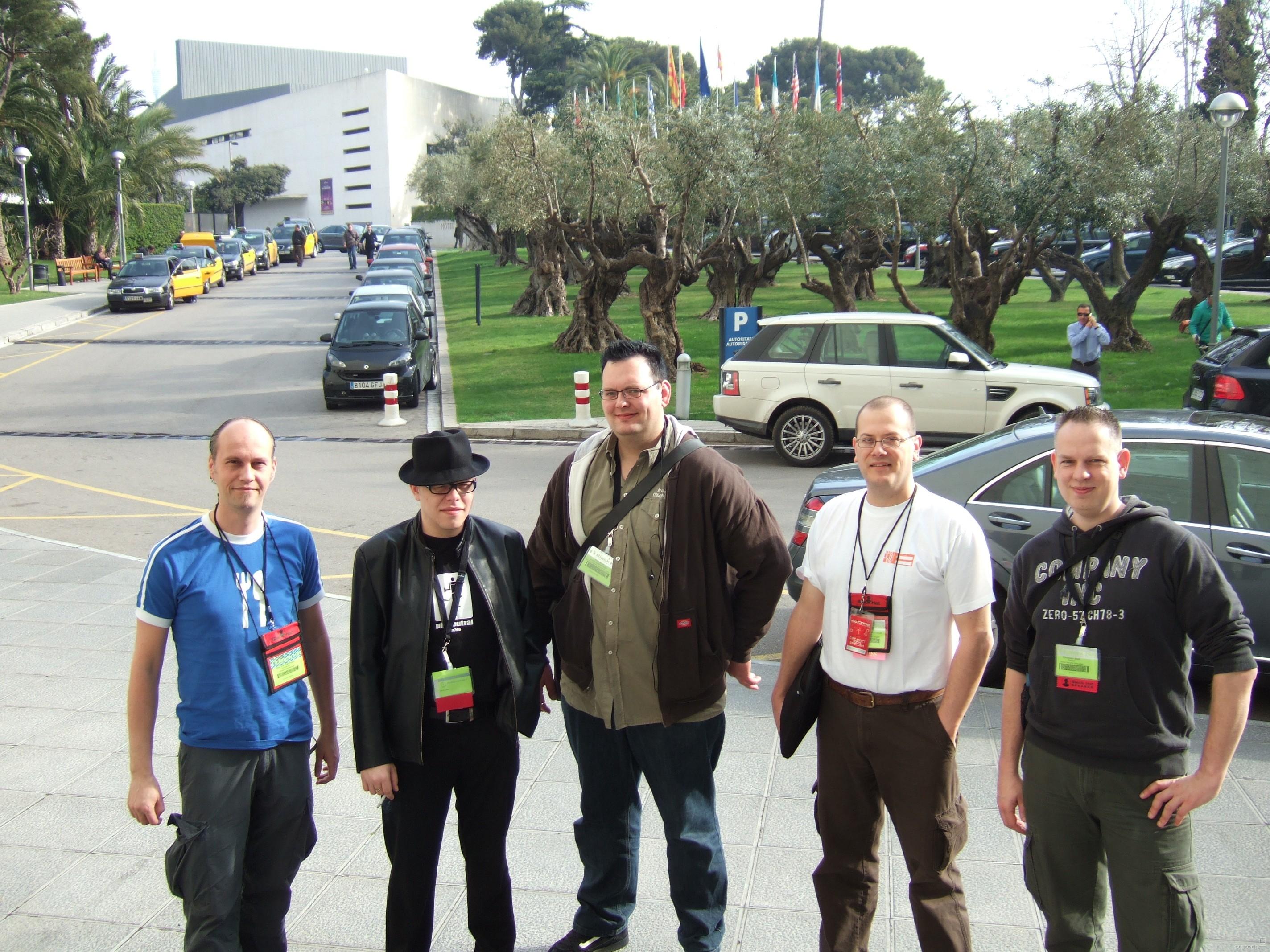 BlackHatEU (L to R): Peter Van Eeckhoutte, FX, Atilla, Xavier Mertens, Christiaan Beek Credit: ate