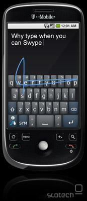 Swype na HTC Magic