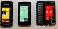 Samsungova in LG-jeva prototipa z Windows Phone 7 poleg neimenovane naprave