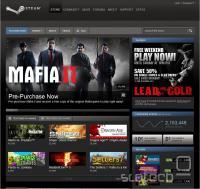 Vstopna stran trgovine Steam, ki omogoča prednaročilo igre Mafia II