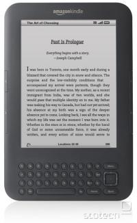 Kindle 3. generacije v grafitni barvi