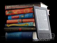Kindle na desni je po številu prodanih knjig uspešnejši od kupa na levi