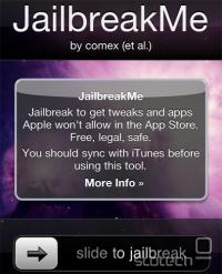 Jailbreakme.com na iPhone