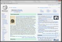 Chrome 6.0 prikazuje Wikipedijino stran