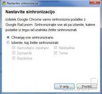 Google Chrome - sinhronizacija