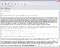 Primer prevarantskega e-sporočila