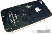 iPhone - polomljeno steklo na zadnji stran
