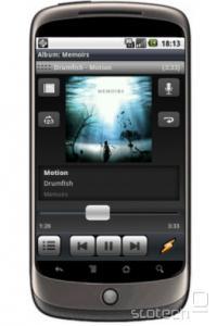 Winamp na telefonu - izgled je podoben preobleki Bento z računalnika