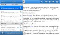 Odjemalec za e-pošto - redka tablici prilagojena aplikacija