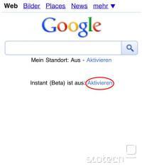 Nastavitvena povezava na nemškem Googlu