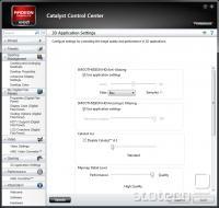 Catalyst Control Center iz različice 10.12 v naprednem pogledu