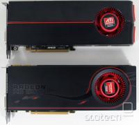 Radeon HD 5870 zgoraj, 6970 spodaj