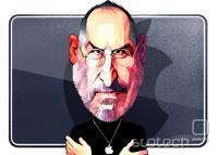 Karikatura Steva Jobsa v Financial Timesu