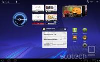 Prenovljeno namizje Androida 3.0 s sistemsko vrstico na dnu