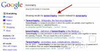 Google - Torsoraphy, popravljeno na Tarsorrhaphy