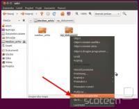 Ubuntu - desni klik -> souporaba