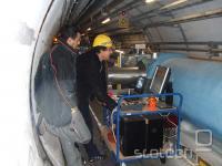 Testi v tunelu pred zagonom LHC