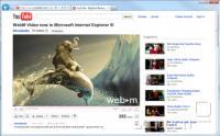 Video na Youtube v WebM v IE9