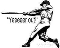 Izraz 'three stikes' prihaja iz baseballa, ta šport pa ni pretirano priljubljen v Evropi in Novi Zelandiji. Več kot jasno je, da so pri sprejetju tovrstne zakonodaje glavno vlogo imela gospodarska interesna združenja velikih ameriških založnikov. Vir: duhaime.com