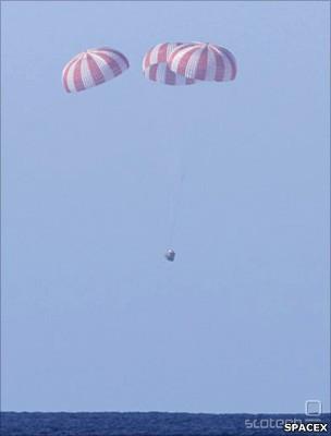 SpaceX je že izvedel poizkusne polete kapsule Dragon.