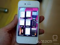 Bel iPhone 4 s 64 GB pomnilnika in spremenjeno zasnovo preklapljanja programov