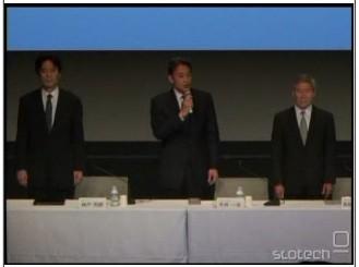 Kaz Hirai na novinarski konferenci v Tokiu