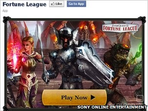 Fortune League je ena izmed iger za Facebook, ki za delovanje potrebuje SOE.