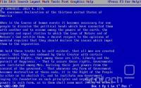 WordPerfect 5.1 za DOS iz leta 1989
