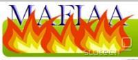 Logotip vtičnika Mafiaa Fire. Ime je parodija na ameriško združenje Mafiaa, ki predstavlja glasbeno in filmsko industrijo (brez heca, mafiaa.org) in Enoto za priseljence in carino (ICE, angl. led), ki na podlagi prijav založniške industrije izvaja zasege