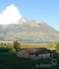 Panorama ekvadorskega podeželja