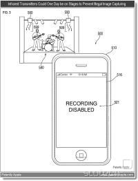 S posebnim infrardečim oddajnikom bo mogoče onemogočiti snemalno funkcijo na iPhonih, iPod Touchih, iPadih in ostalih iOS napravah s kamero. Rešitev bo zanimiva predvsem za koncerte, razstave, ljudske demonstracije (policija) in IRL trole. Med bolj legitimnimi rabami najdemo npr. podajanje informacij o trenutno gledanem muzejskem eksponatu.