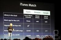 Steve Jobs med popolno in objektivno primerjavo treh servisov za oblačno shranjevanje in streamanje glasbe. V ZDA je ti. 'primerjalno oglaševanje' sicer bolj pogosto in manj regulirano kot v EU [4]
