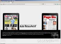 Takšno obvestilo po novem čaka obiskovalce New York Posta z iPadom v roki. Slikco smo pripravili v Firefoxu z uporabo plug-ina User-Agent Switcher.