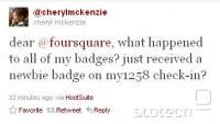 Redni uporabniki so ponovno prejeli 'newbie' badge, ki ga dobi vsak začetnik po nekaj check-inih.