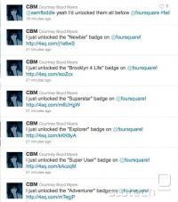Twitter spam.