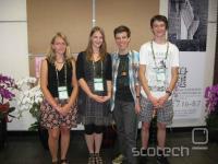 Z leve: Rebeka Jereb, Eva Slapnik, Domen Kampjut in Jure Črepinšek